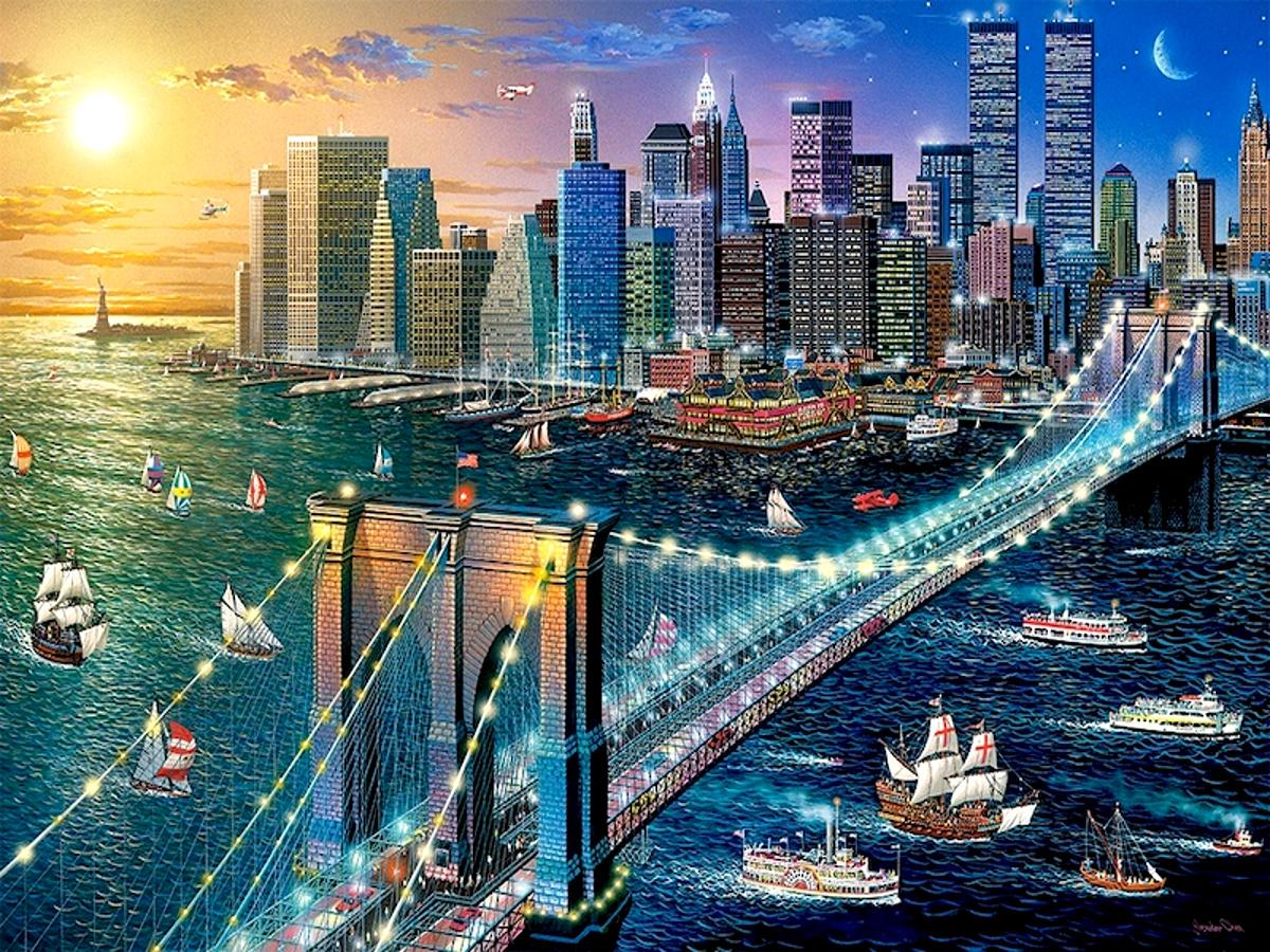 украшения мегаполис картинки рисунки чем больше радости